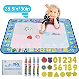 "KATUMO Water Doodle Mat, Extra Large Water Drawing Mat Kids Magic Doodle Board Painting Writing Pad Educational Toy Gift for Kids/Toddlers Learning Painting Coloring, Age 3+, 38.5"" 30"" in 4 Colors"