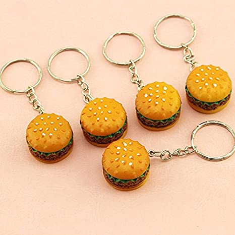 Jewelry & Accessories Cute Simulation Food Keychain Simulation Food Pendant Key Ring Novelty Key Chain Christmas Birthday Gift 1pcs New Fashion With A Long Standing Reputation