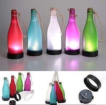 urgrace 5pcs plástico LED Solar de botellas de vino lámpara de luces de Jardines Colgantes angetriebenes