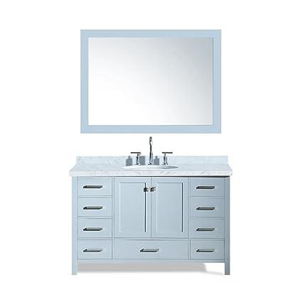 Dkb 55 Inch Beckford Series Single Sink Bathroom Vanity Set In Grey