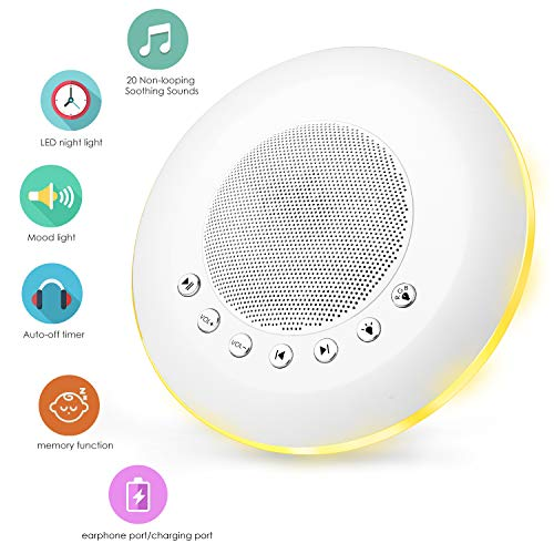 White Noise Machine, Sendcool Portable Sound Machine, Sleep