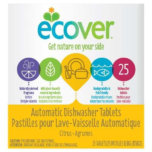 Ecover Natural Automatic Dishwashing Tablets Citrus Scent 25 Ct
