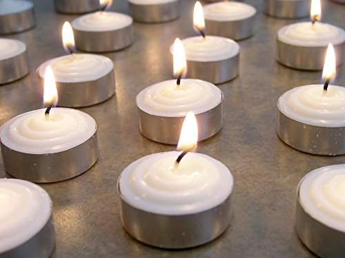 Smokeless Tea Light Candles Genuine Vegetable Palm Oil Wax Unscented - Restaurant table candles