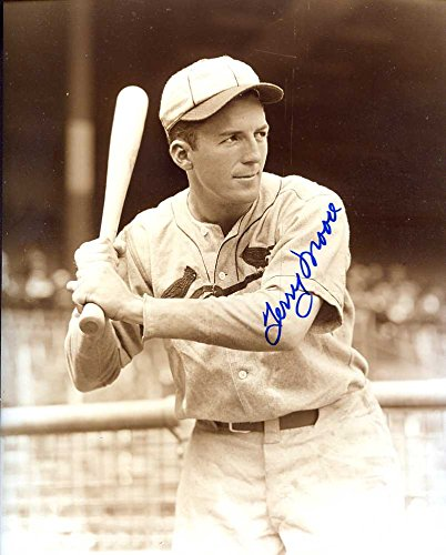 (Terry Moore (D.'95) Autographed /Original Signed 8x10 Sepia Photo Showing Him w/ the St. Louis Cardinals)