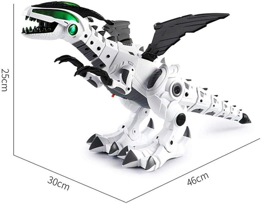 Neckip Verbesserte Dinosaurier Spielzeug f/ür Kinder Dinosaurier-Weltspielzeug des wei/ßen elektrischen Dinosauriers mechanisches kleines elektronische Spielzeug Weihnachten Geschenk