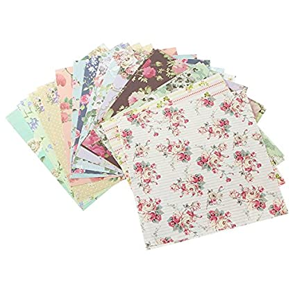 Amazon Origami Folding Paper 24 Sheets Assorted Floral