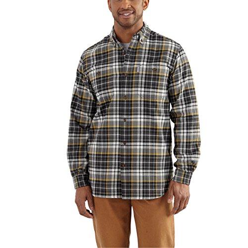 Carhartt Men's Big and Tall 102217 Trumbull Plaid Shirt - X-Large Tall - - Shadow Shirt Plaid