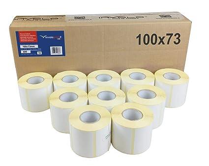 10 rollos - 6000 etiquetas 100x73 mm - Etiquetas Adhesivas ...