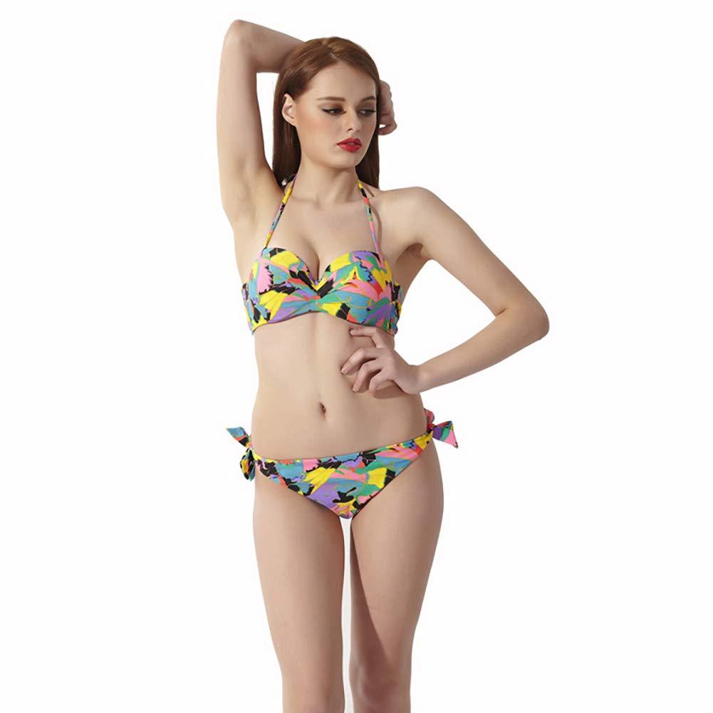 6a42413b47 Amazon.com : SPARK-X Womens Two Piece Swimsuit Strappy Triangle Halter  Bikini Set Cheeky Bathing Suit Swimwear : Sports & Outdoors