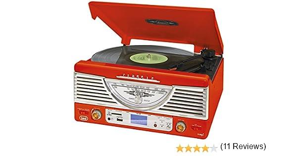 Trevi TT 1062 E - Tocadiscos (MP3, 230 V, 50 Hz), color blanco y ...