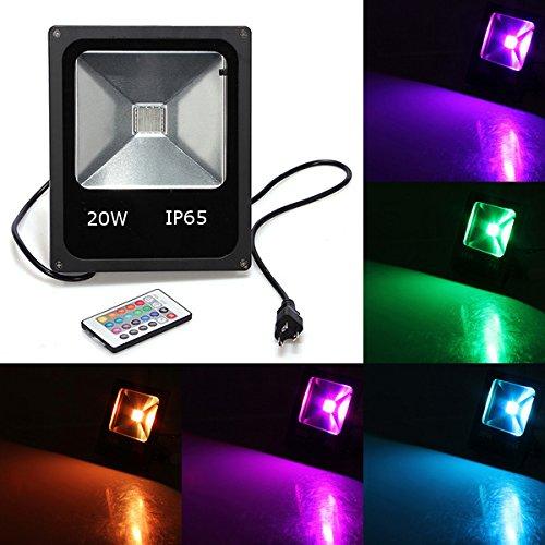 HTAIYN 20W RGB IP65 LED Flutlicht waschen Garten Lampe AC 85-265V Außenbeleuchtung