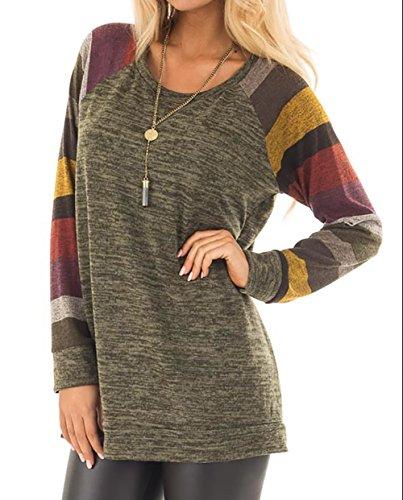 Amborido Women's Long Sleeve Sweater Lightweight Sweatshirt Tops