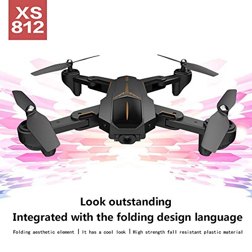 MOZATE VISUO XS812 GPS 5G WiFi FPV 5MP 1080P Wide Angle HD Camera Foldable RC Quadcopter Drone + Two Battery (Black, A) by MOZATE (Image #9)