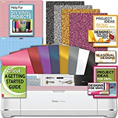 The Cricut Maker is the ultimate smart cutting machine. Professional-level cutting performance is now accessible to everyone.-Cuts hundreds of materials, from the most delicate fabric and paper to matboard and leather-Expandable suite of tool...