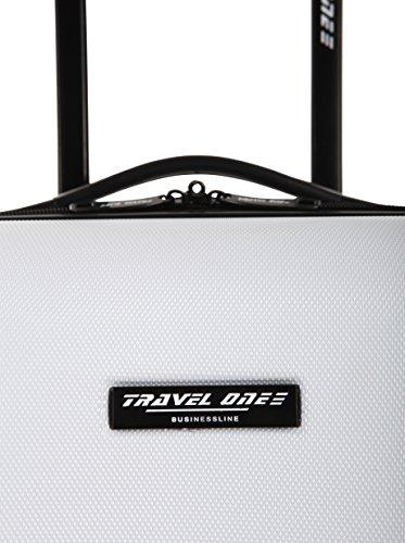 rígido cm 45 Antracita Travelone Trolley Blanco 0 Z5Swxanq
