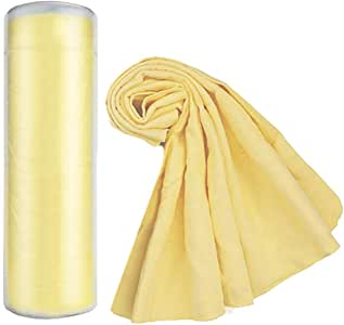 """Premium Chamois Drying Cloth Car Drying Towel 26"""" x 15"""" Super Absorbent Fast Drying Chamois Environmental and Durable Car Wash Cloth Accessory"""