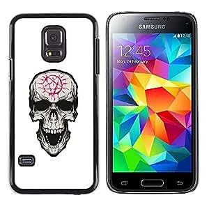Stuss Case / Funda Carcasa protectora - Pentagram Evil Goth Cráneo - Samsung Galaxy S5 Mini, SM-G800