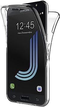 AICEK Funda Samsung Galaxy J5 2016, Transparente Silicona 360 ...