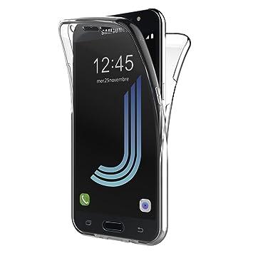 8ad9e013420 AICEK Funda Samsung Galaxy J5 2016, Transparente Silicona 360°Full Body  Fundas para Samsung J5 2016 Carcasa Silicona Funda Case: Amazon.es:  Electrónica