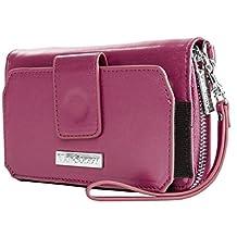 VanGoddy Purple Wallet Case Suitable for BLU Smartphones Up To 6inch
