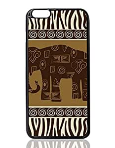 Brown Elephant Tribal Custom Hard Plastic back cell Phones Case for Apple iphone6 plus - iphone 6 plus 5.5 inch Case Cover