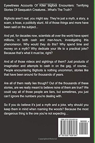 True Bigfoot Stories: Eyewitness Accounts Of Killer Bigfoot