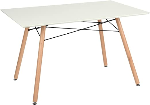 Ihouse - Mesa de comedor, diseño escandinavo de estilo retro ...