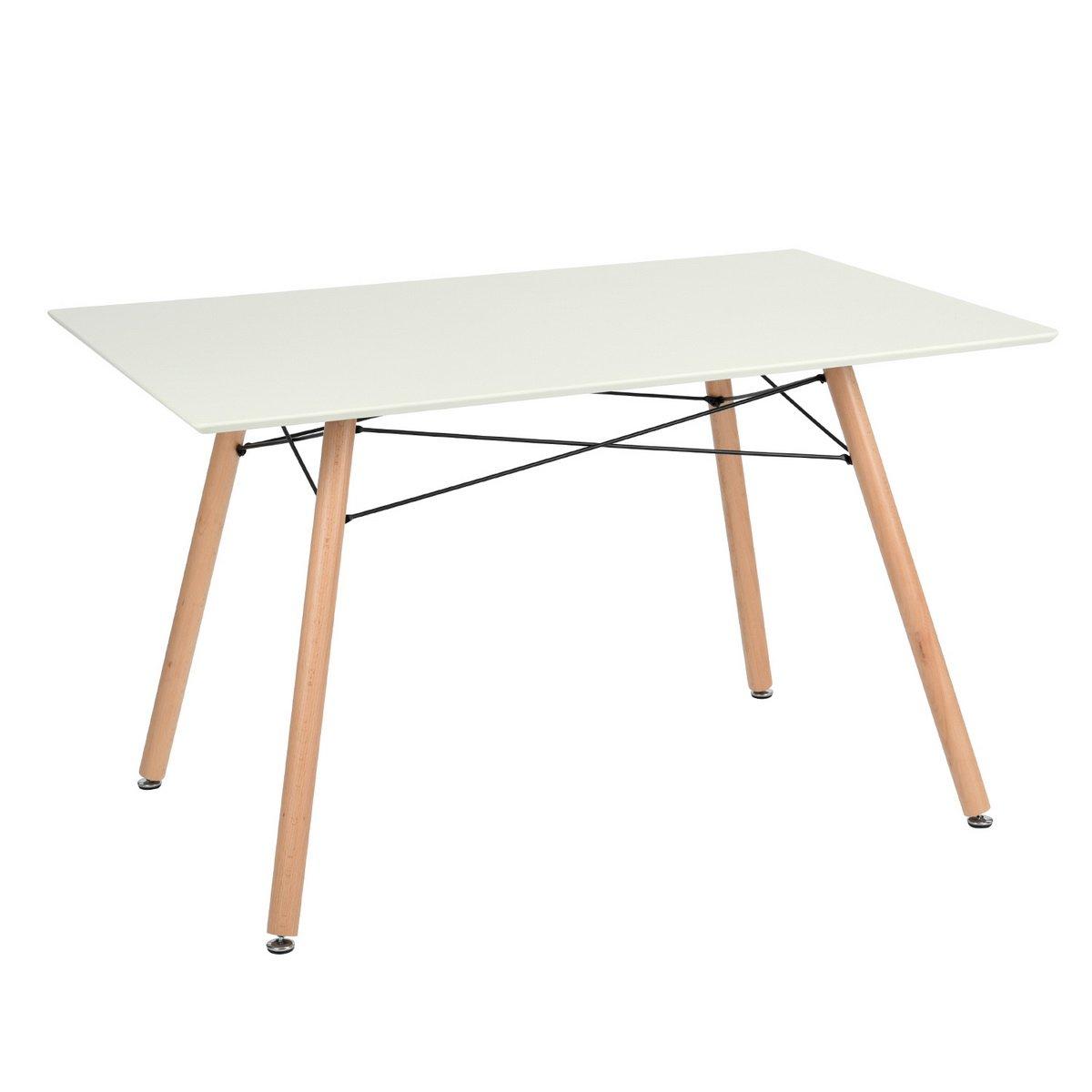 Table de salle à manger scandinave moderne style rétro