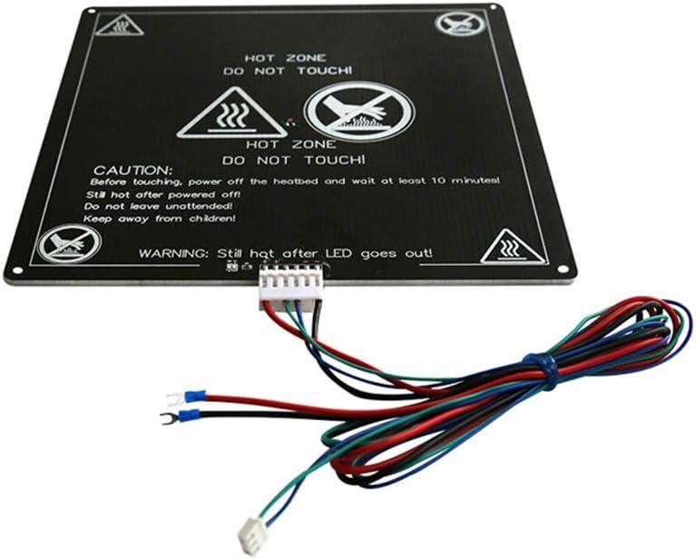 Semillero Impresora 3D, Aluminio Mk3 12V Climatizada Semillero Cama con Alambre Línea De Cable para Impresora 3D