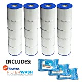 Pleatco Cartridge Filter PJAN85-PAK4 Pack of 4 Jandy CL340 A0557900 w/ 3x Filter Washes