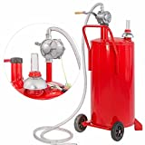 9TRADING 20 Gallon Gas Caddy Tank Storage Drum Gasoline Diesel Fuel Transfer Wired Hose
