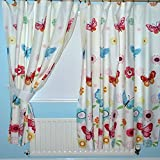 """Butterfly Lined Curtains 66"""" x 54"""""""