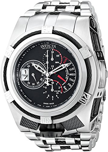Invicta Men's 16955 Bolt Analog Display Swiss Quartz Silver Watch