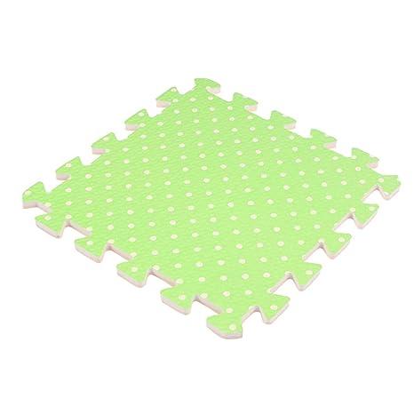 Yardwe Puzzle Play Mat Kids Patrón de Punto Cuadrado Espuma ...