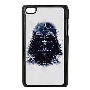 iPod Touch 4 Case Black Darth Vader Art Star Wars Illust Teyut