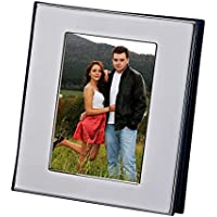 Silver album with window cover holds 100 photos - 4x6