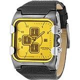 Diesel - DZ4149 - Montre Homme Acier - Quartz Analogique - Chronographe -Dateur - Bracelet en Cuir Noir