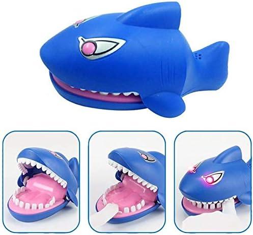 Biting Finger Spiel Cartoon-Haifisch-Form Elektrische Bei/ßring Spielzeug Multi-Funktions-Z/ähne bei/ßen Spiel Spielzeug f/ür Kinder