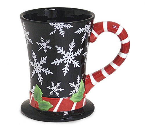 Black Oz Top Hat (Christmas Snowflake Top Hat Coffee Mug)