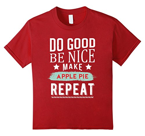 Kids Do Good be Nice Apple Pie Repeat T-Shirt 4 Cranberry