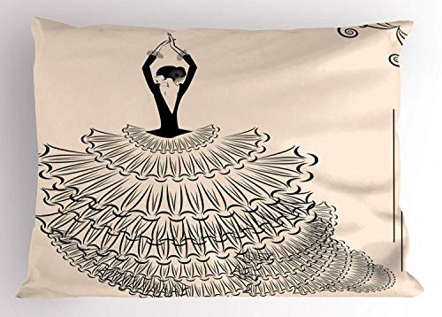 HFYZT Spanish Pillow Sham, Back View of A
