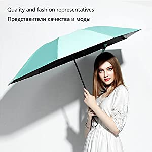 Umbrella Windproof Travel Umbrella Compact Folding Reverse Umbrella, Upside Down Inverted Umbrella Reverse Folding Inside Out Short Umbrella for Easy Carry (Light blue)