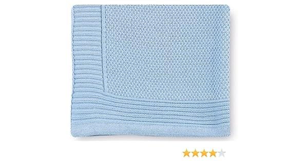 Pirulos 28012320 - Toquilla tricot texturas, 80 x 110 cm, color azul: Amazon.es: Bebé