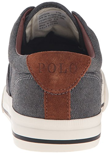 Polo Ralph Lauren Men's Vaughn Fashion Sneaker, Black, 10.5 D US