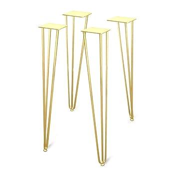 Juego de 4 patas de horquilla, patas de mesa, patas de metal para ...