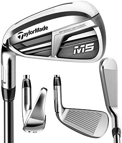 TaylorMade Golf M5アイアン8本セット (男性用、左利き、シャフト: Mitsubishi Tensei Orange、フレックス: R、セット内容: 4I,5I,6I,7I,8I,9I,PW,AW) N6890507 141[並行輸入]