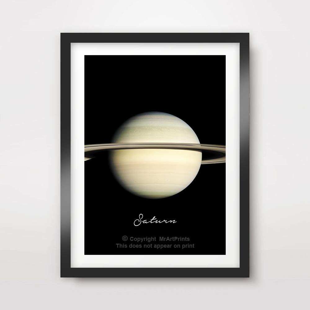 PLANET SATURN ART PRINT Poster Home Decor Outer Space Photo Solar System Wall Picture A4 A3 A2 (10 Size Options)
