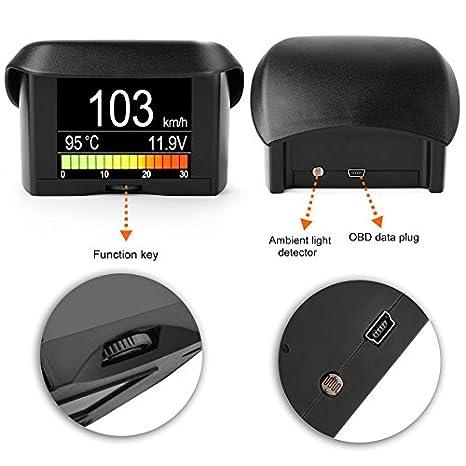 A202 coche digital DAB conducción ordenador pantalla coche OBD inteligente pantalla consumo de combustible temperatura del agua de calibre medidor de ...