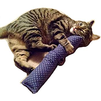 "15"" Catnip Kitty Kicker Toy W/Refillable Catnip Pocket / Catnip Kicker Toys / (Blue#1)"