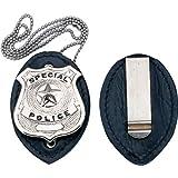 1131 Badge Holder Clip On Leather